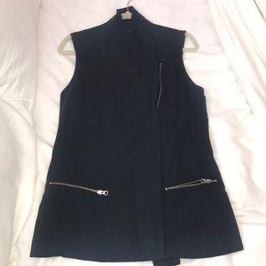 Trouve Moto Jacket dark blue/gray size small